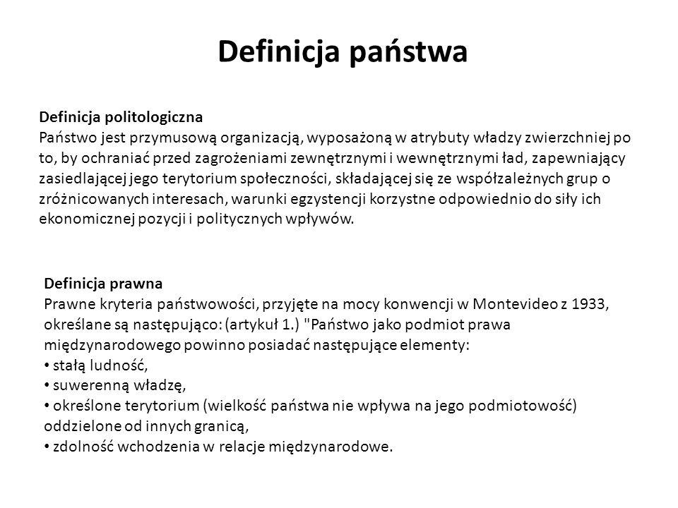 Definicja państwa Definicja politologiczna