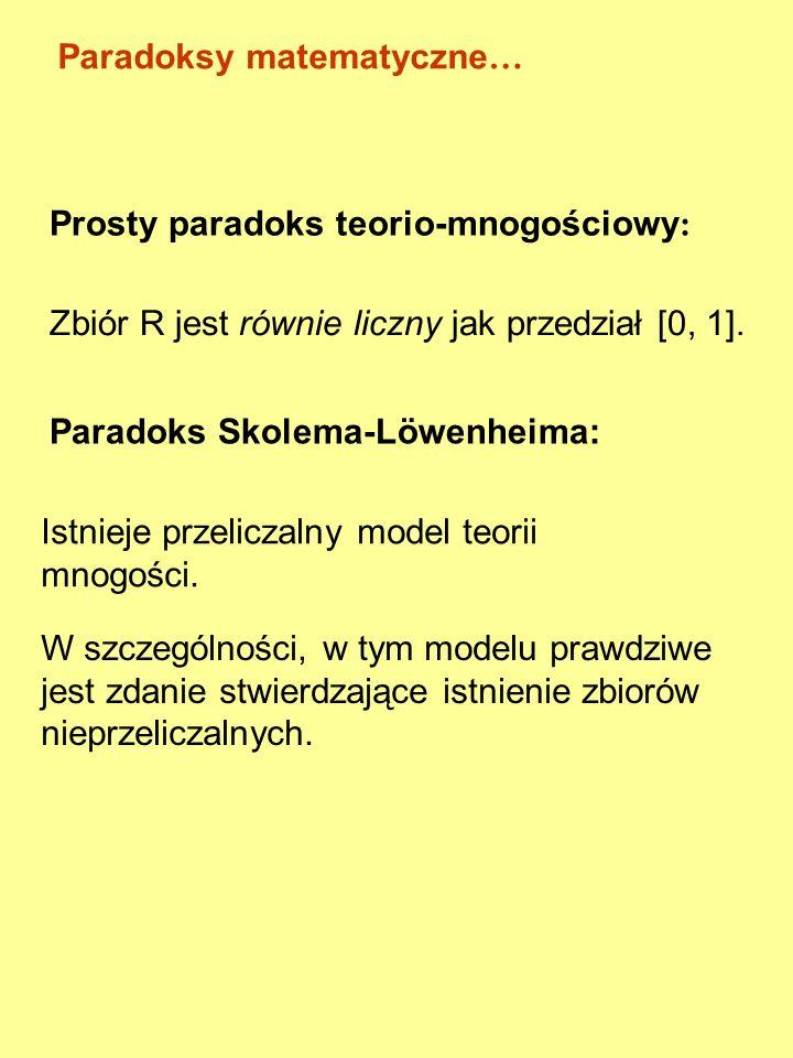 Paradoksy matematyczne…