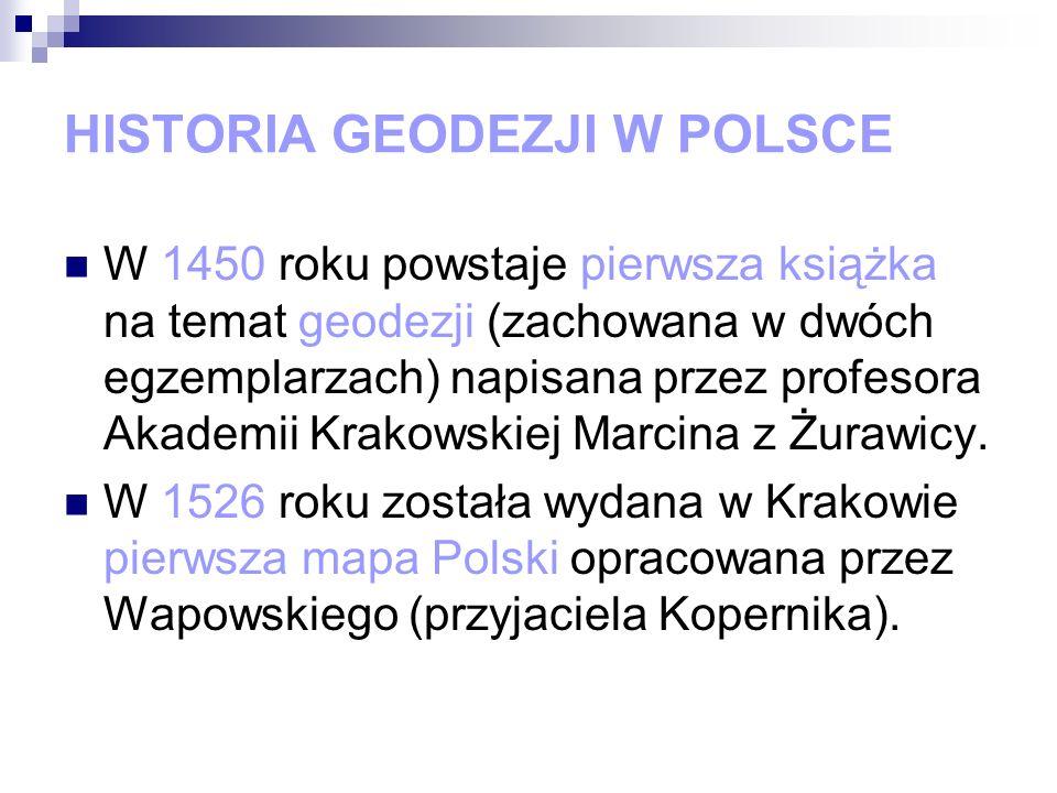HISTORIA GEODEZJI W POLSCE