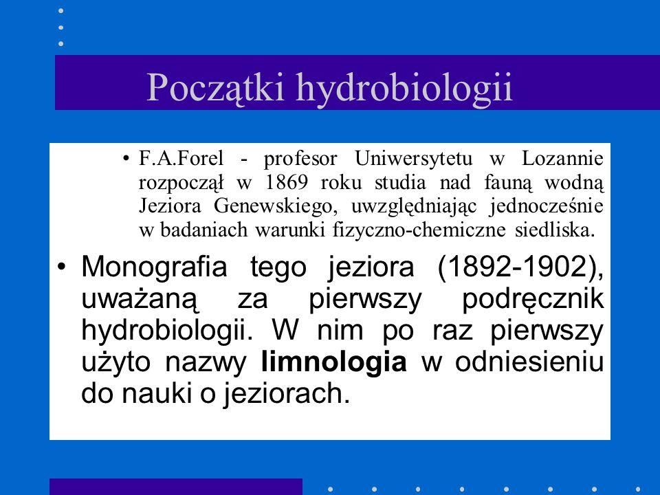 Początki hydrobiologii