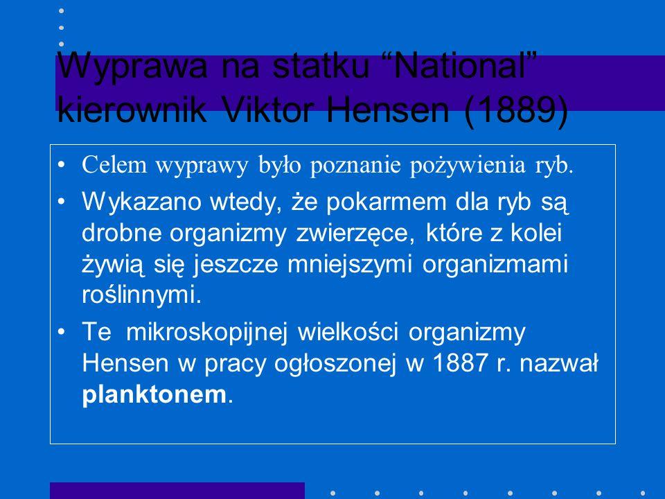 Wyprawa na statku National kierownik Viktor Hensen (1889)