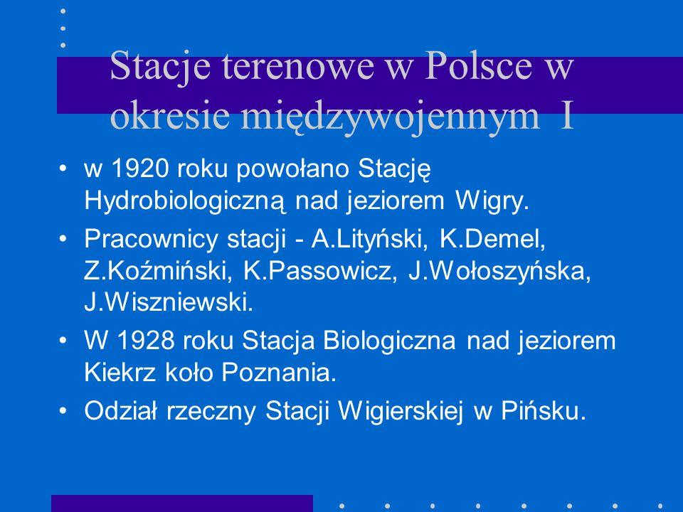 Stacje terenowe w Polsce w okresie międzywojennym I