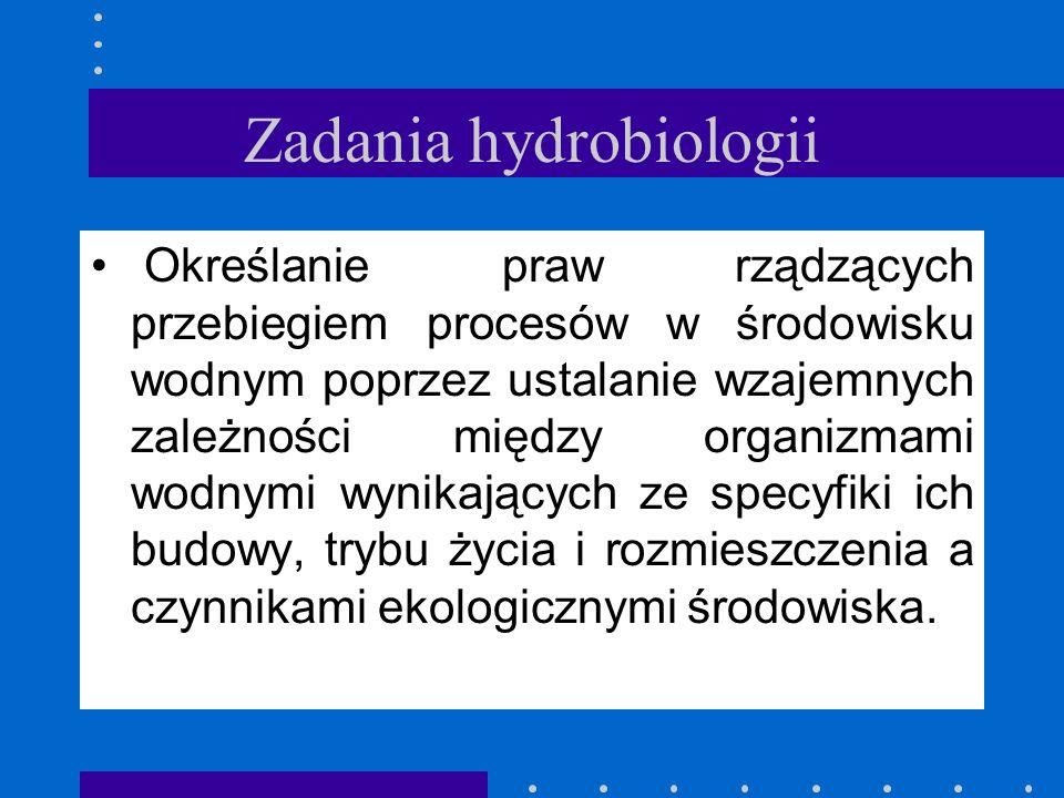 Zadania hydrobiologii