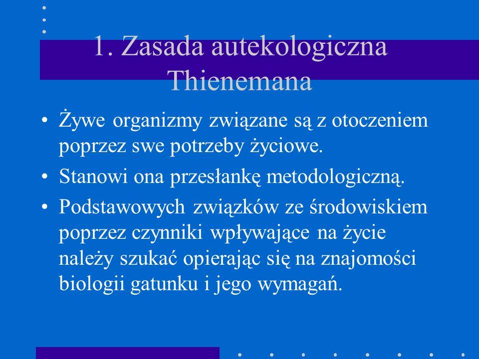 1. Zasada autekologiczna Thienemana
