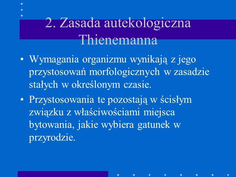 2. Zasada autekologiczna Thienemanna