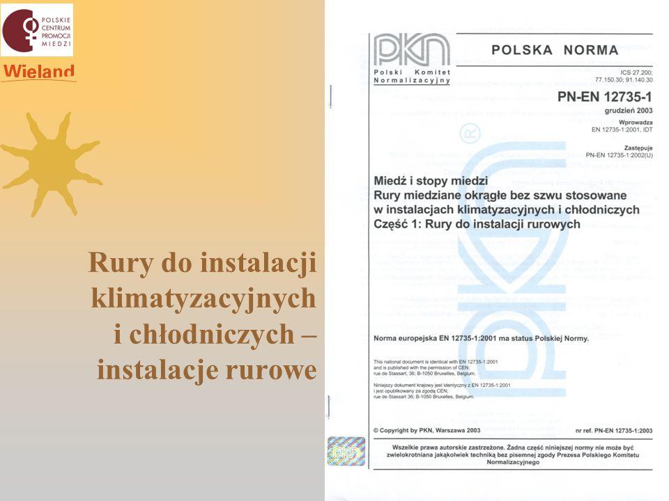 Rury do instalacji klimatyzacyjnych i chłodniczych – instalacje rurowe