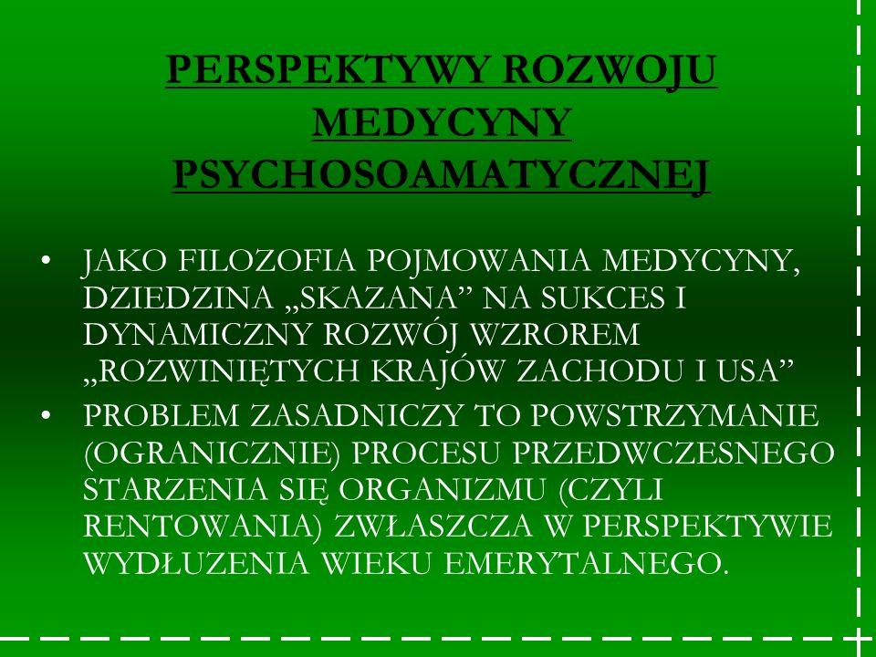 PERSPEKTYWY ROZWOJU MEDYCYNY PSYCHOSOAMATYCZNEJ