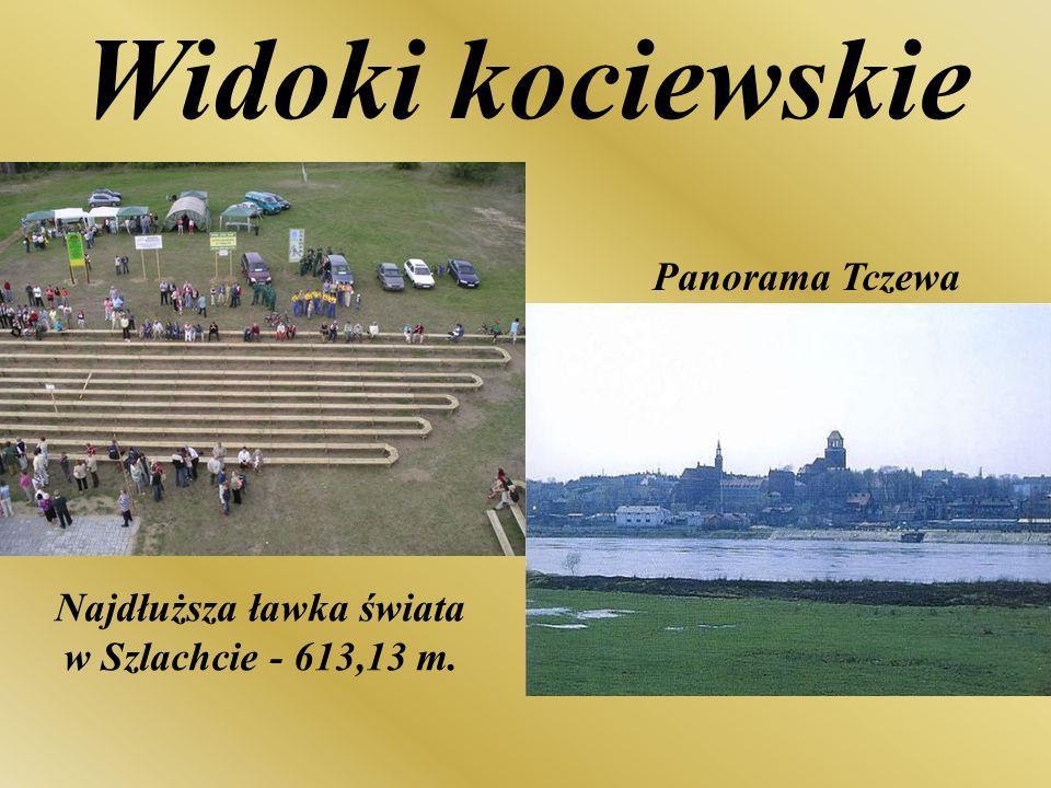 Najdłuższa ławka świata w Szlachcie - 613,13 m.