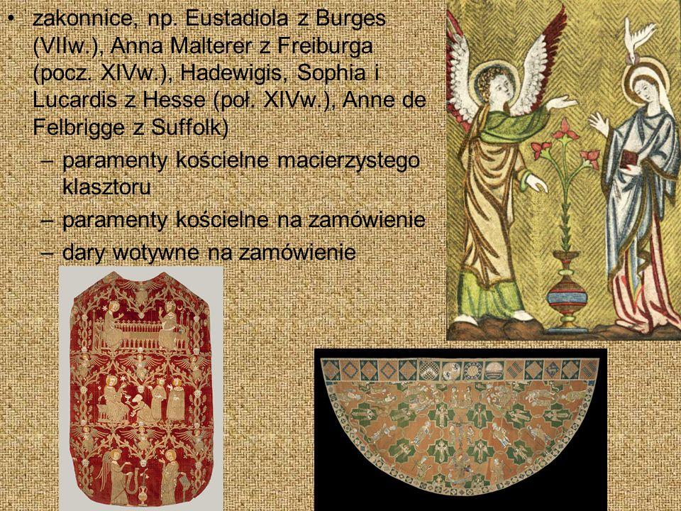 zakonnice, np. Eustadiola z Burges (VIIw