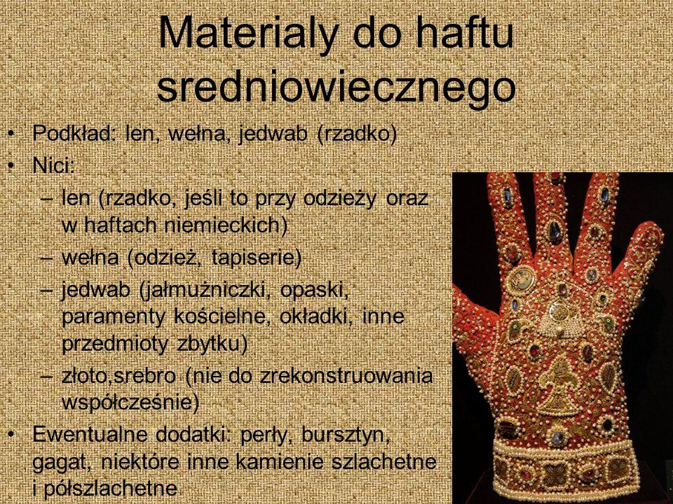 Materialy do haftu sredniowiecznego