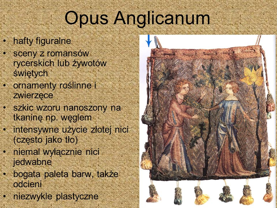 Opus Anglicanum hafty figuralne
