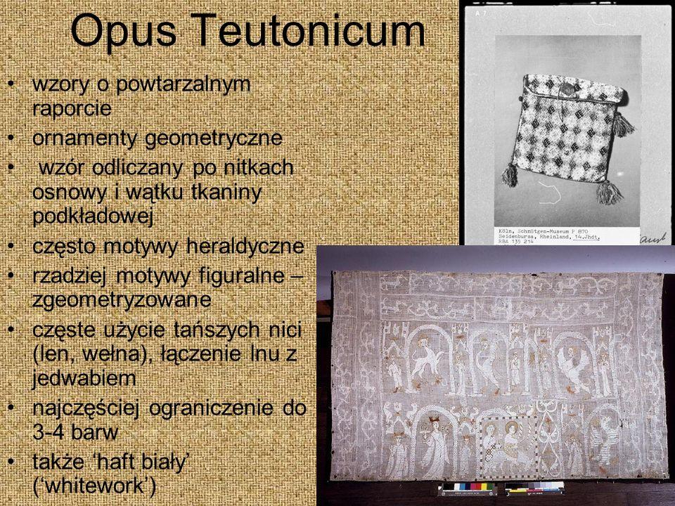 Opus Teutonicum wzory o powtarzalnym raporcie ornamenty geometryczne