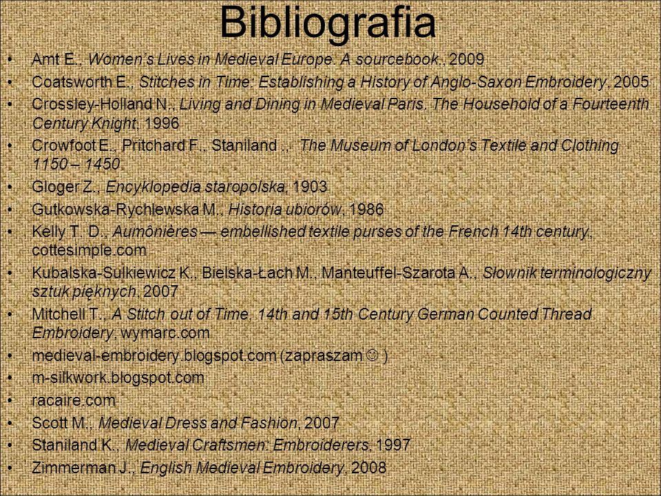 Bibliografia Amt E., Women's Lives in Medieval Europe. A sourcebook., 2009.