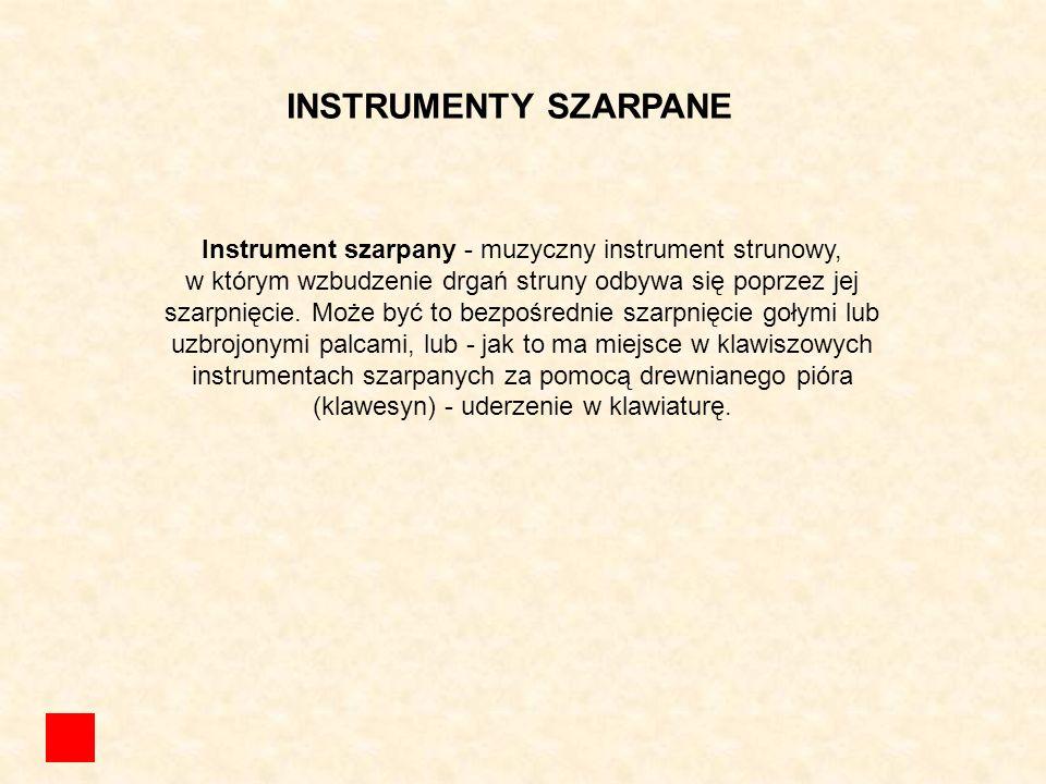 Instrument szarpany - muzyczny instrument strunowy,