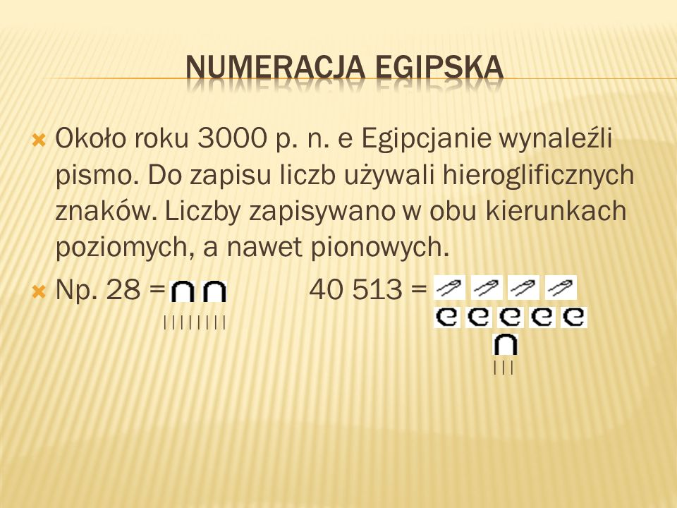 Numeracja egipska