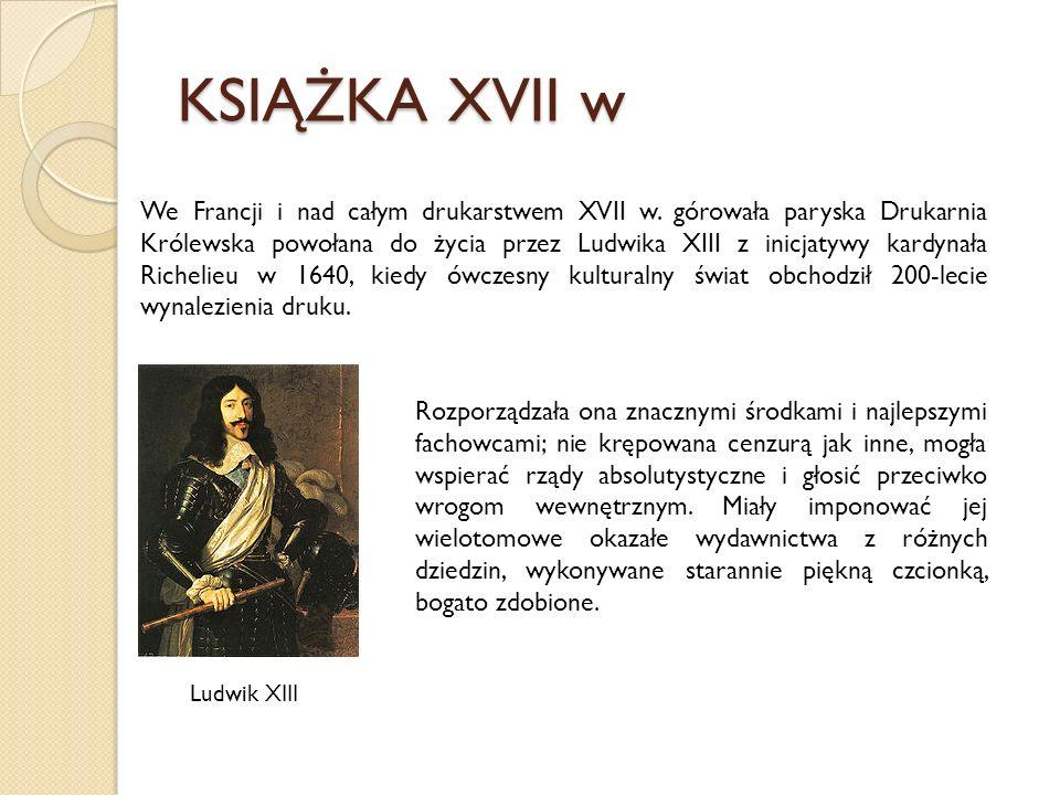 KSIĄŻKA XVII w