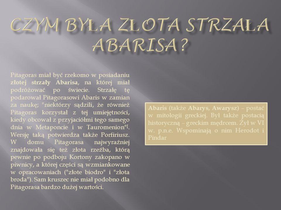 Czym była złota strzała abarisa
