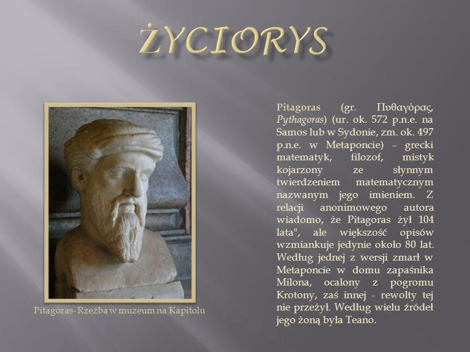 Pitagoras- Rzeźba w muzeum na Kapitolu