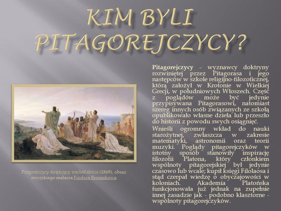 Kim byli pitagorejczycy