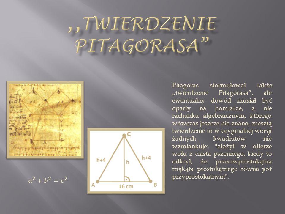 ,,Twierdzenie pitagorasa