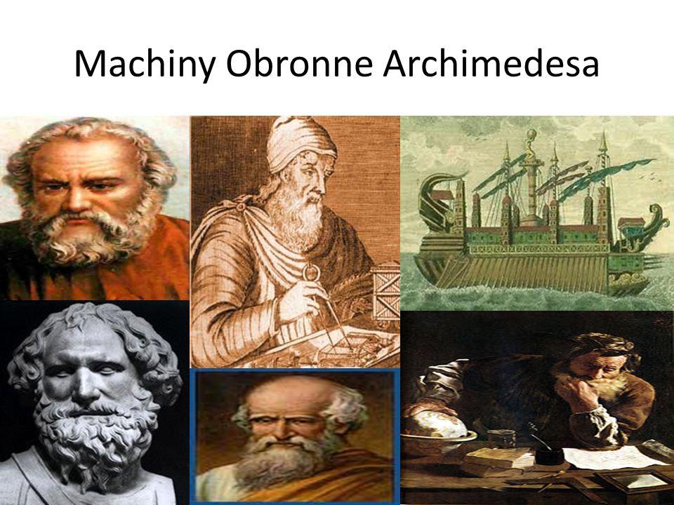 Machiny Obronne Archimedesa