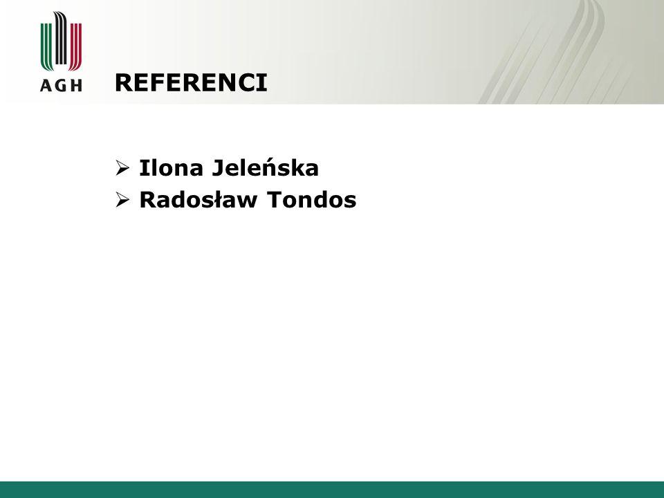 REFERENCI Ilona Jeleńska Radosław Tondos