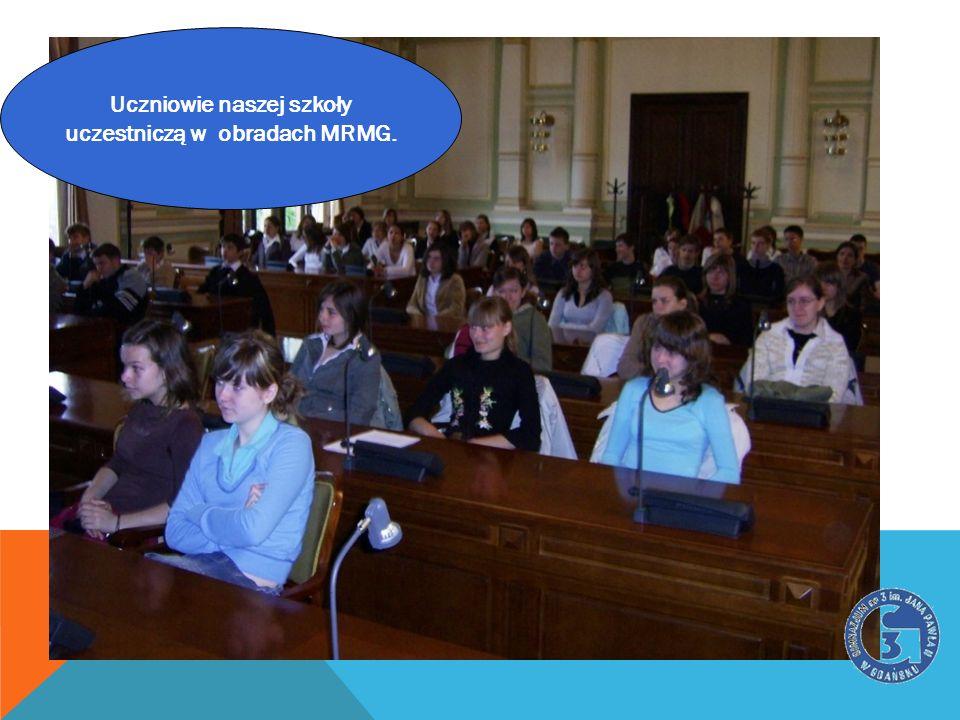 Uczniowie naszej szkoły uczestniczą w obradach MRMG.