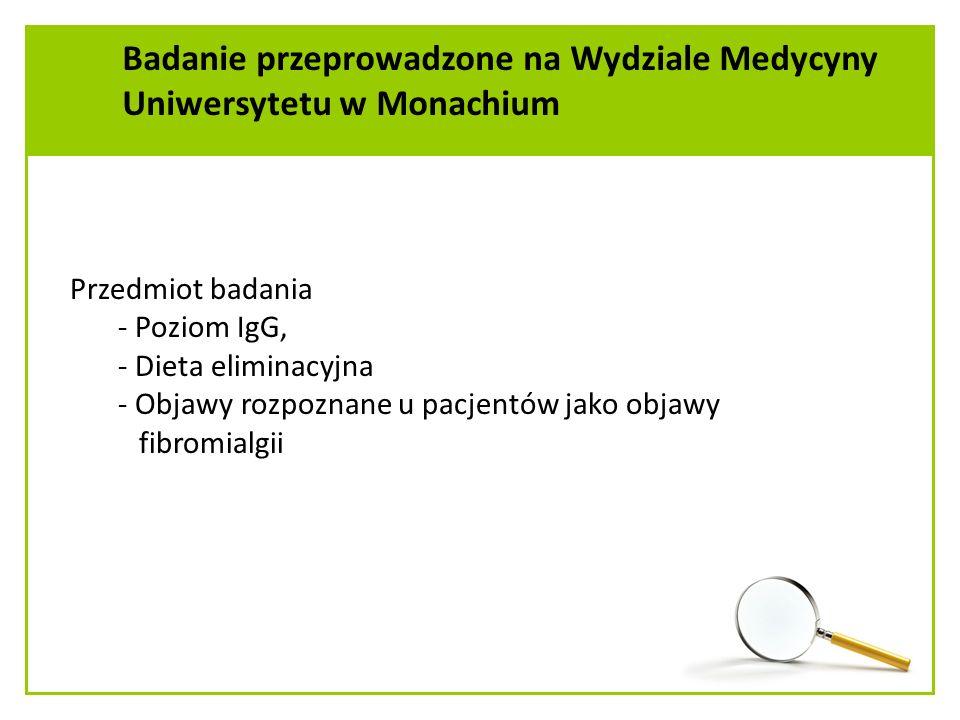 Badanie przeprowadzone na Wydziale Medycyny Uniwersytetu w Monachium