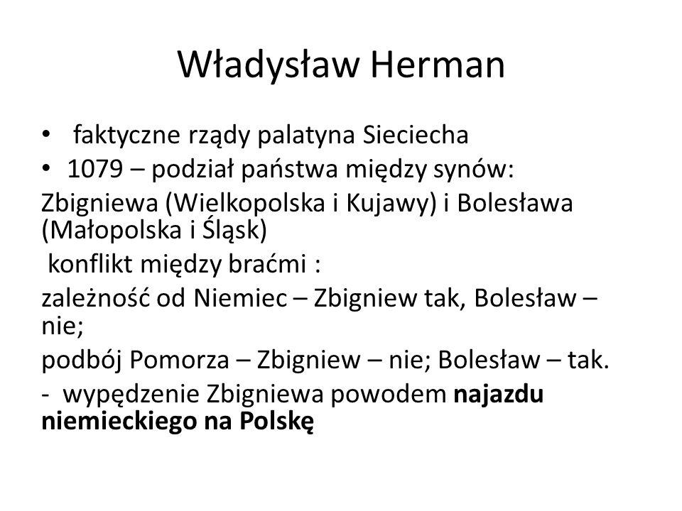 Władysław Herman faktyczne rządy palatyna Sieciecha