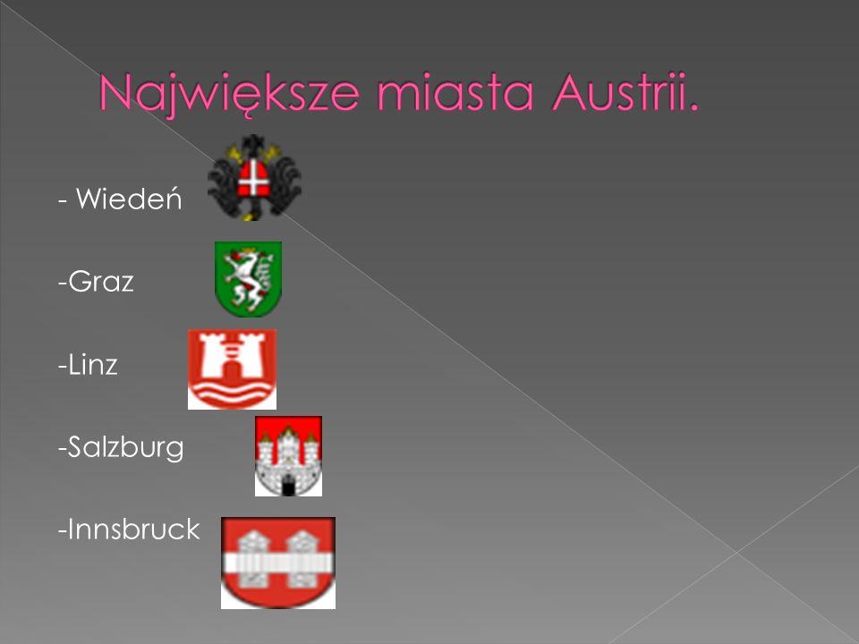 Największe miasta Austrii.