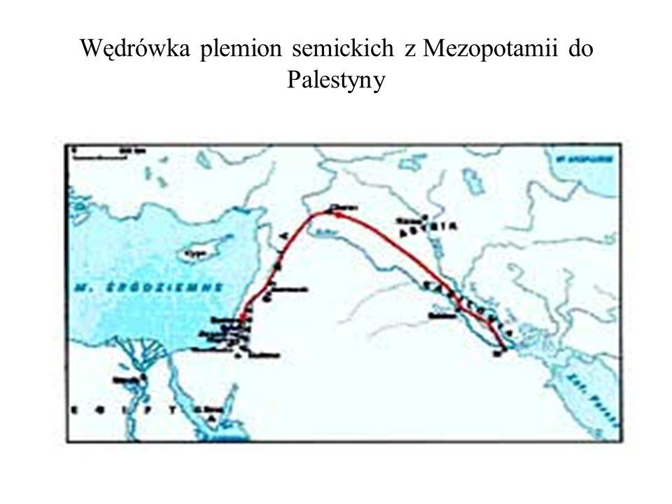 Wędrówka plemion semickich z Mezopotamii do Palestyny