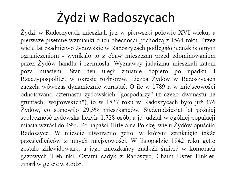 Żydzi w Radoszycach