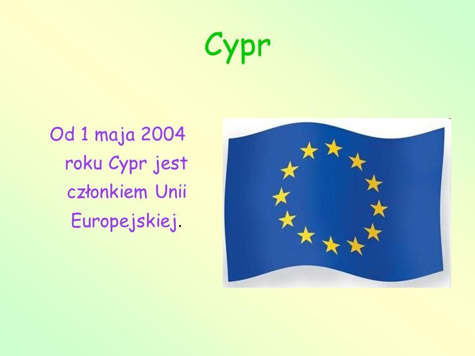 Od 1 maja 2004 roku Cypr jest członkiem Unii Europejskiej.