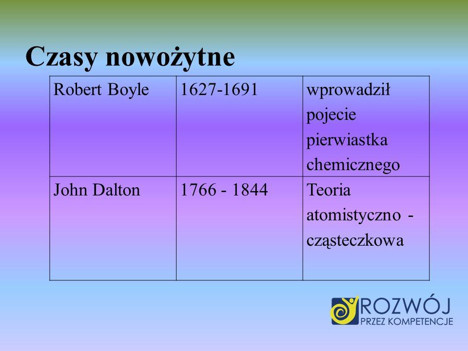 Czasy nowożytne Robert Boyle 1627-1691