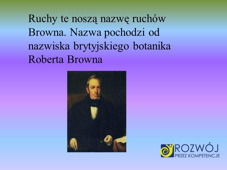 Ruchy te noszą nazwę ruchów Browna