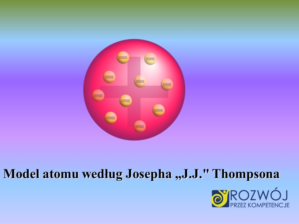 "Model atomu według Josepha ""J.J. Thompsona"