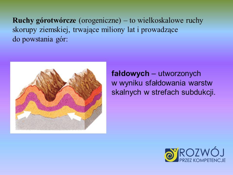 Ruchy górotwórcze (orogeniczne) – to wielkoskalowe ruchy skorupy ziemskiej, trwające miliony lat i prowadzące do powstania gór: