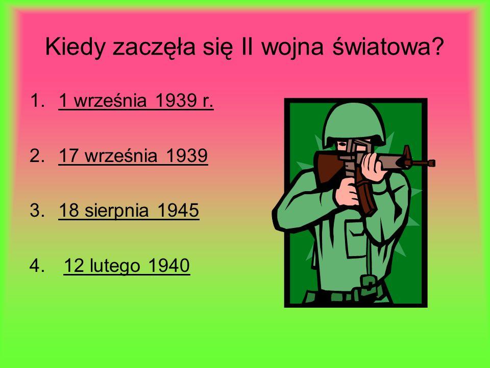 Kiedy zaczęła się II wojna światowa