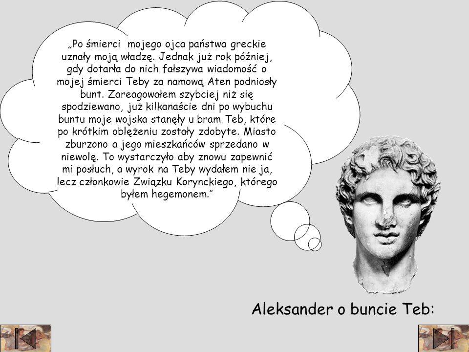 Aleksander o buncie Teb: