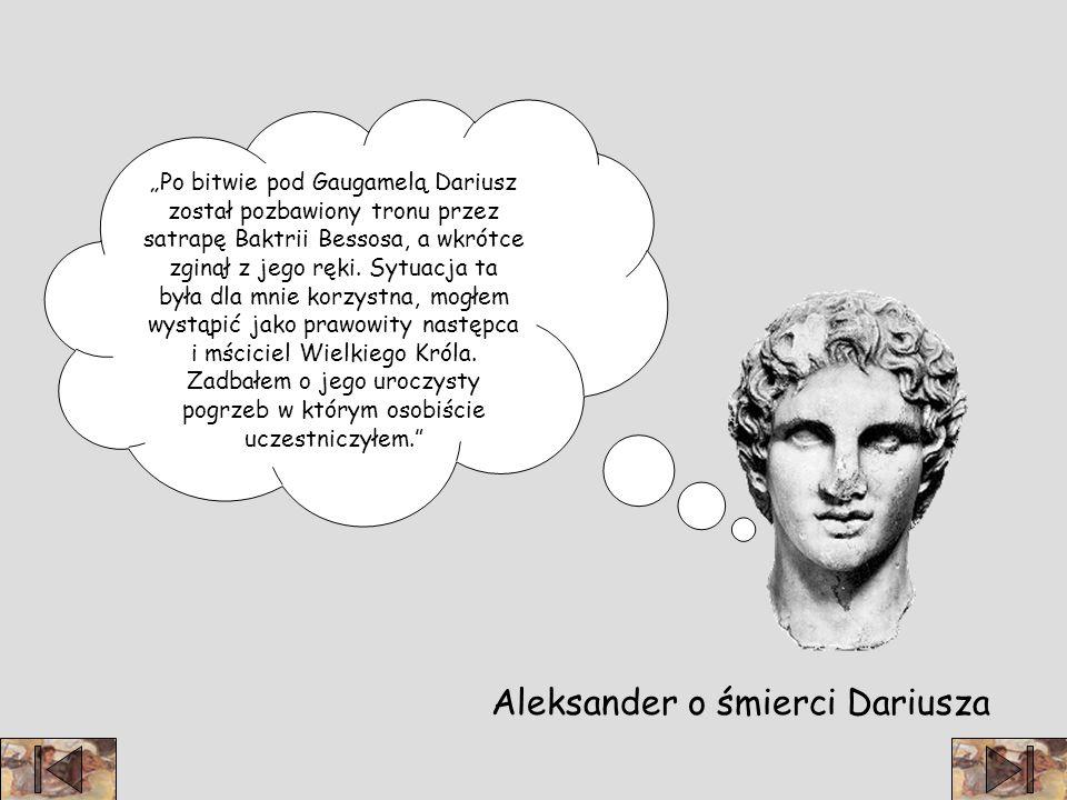 Aleksander o śmierci Dariusza