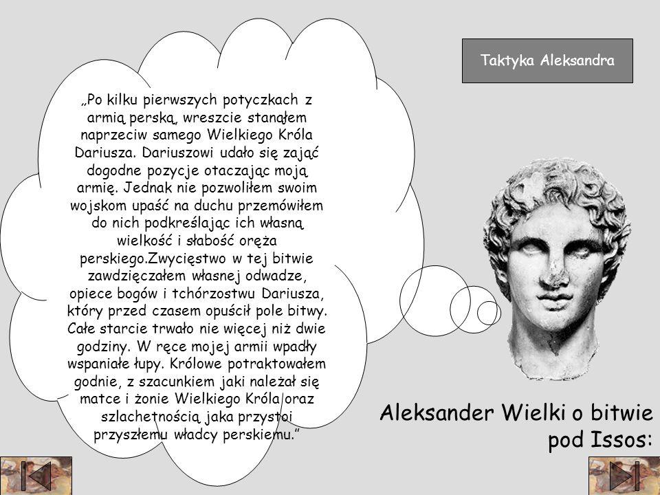 Aleksander Wielki o bitwie pod Issos: