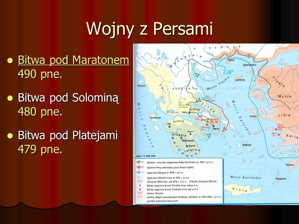 Wojny z Persami Bitwa pod Maratonem 490 pne.