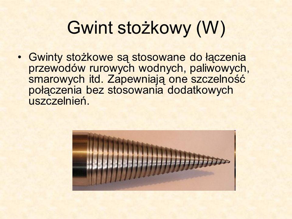 Gwint stożkowy (W)