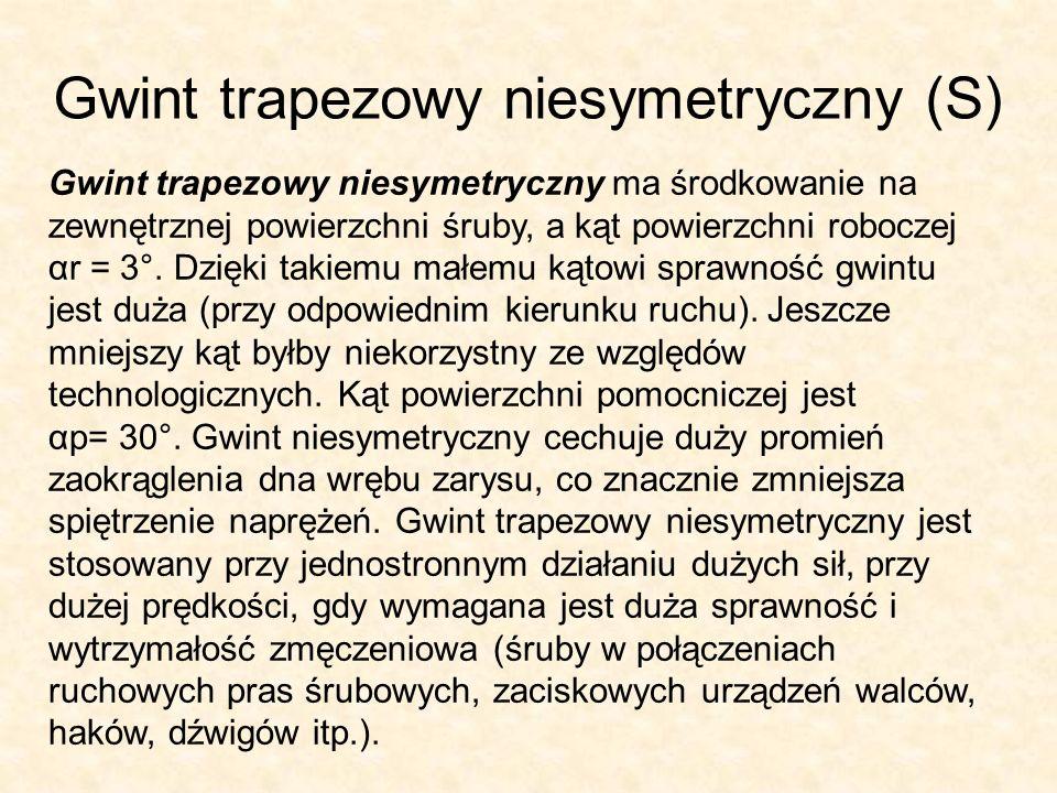 Gwint trapezowy niesymetryczny (S)