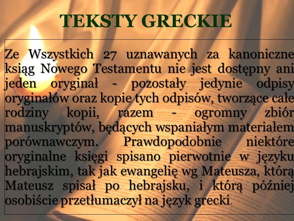 TEKSTY GRECKIE