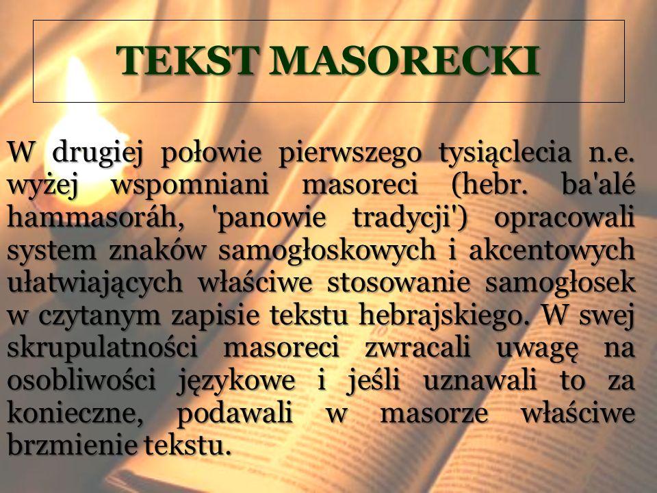 TEKST MASORECKI