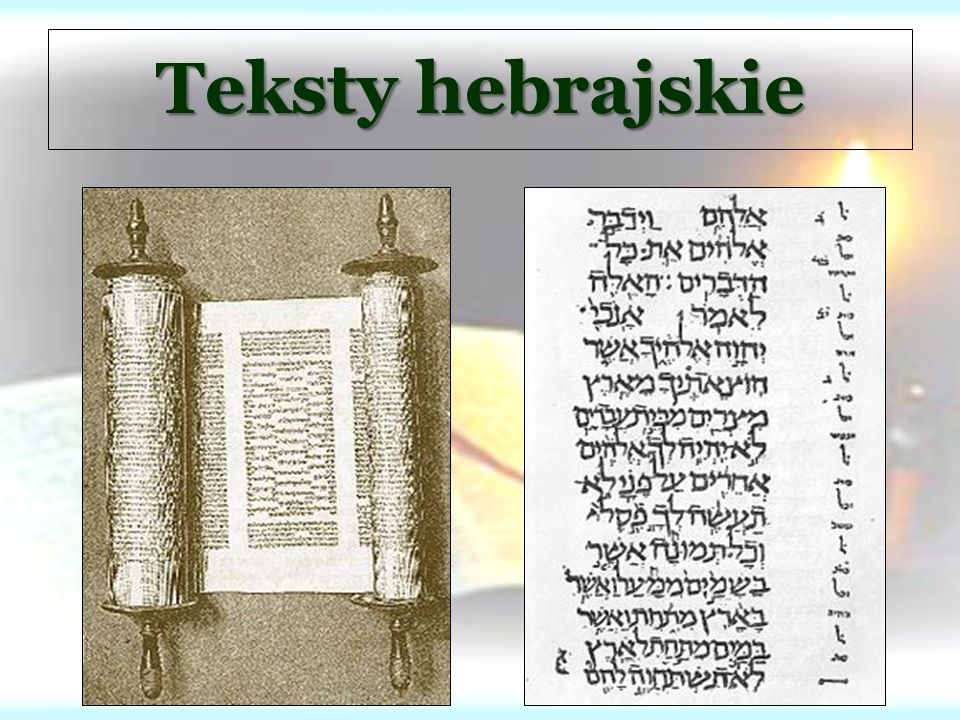 Teksty hebrajskie