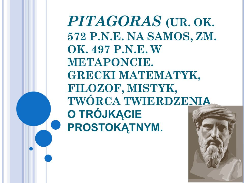 PITAGORAS (UR. OK. 572 P. N. E. NA SAMOS, ZM. OK. 497 P. N. E