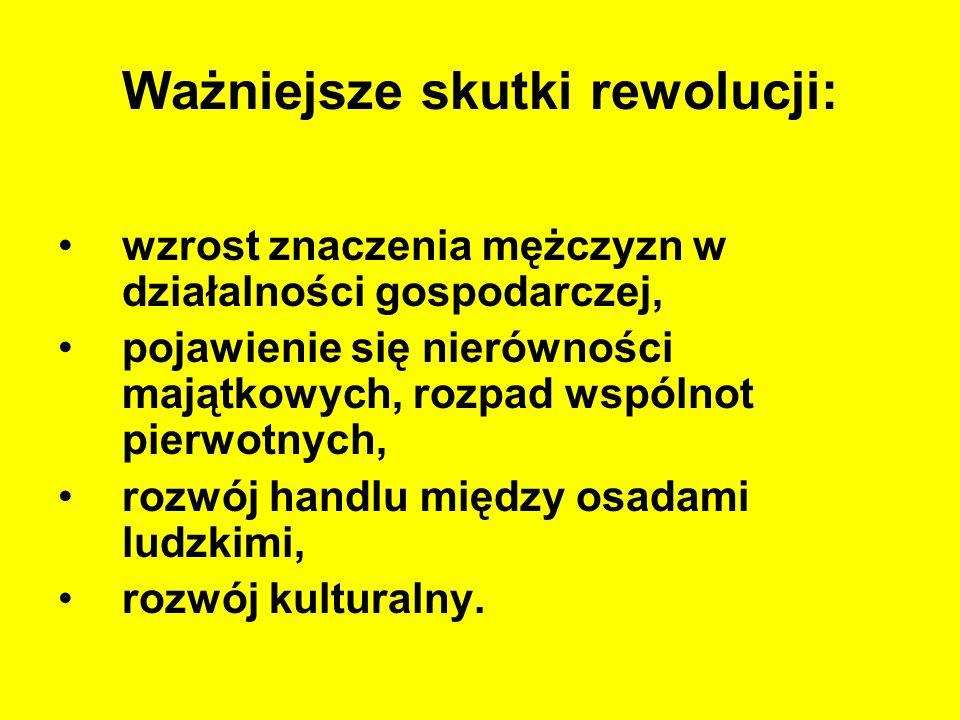 Ważniejsze skutki rewolucji: