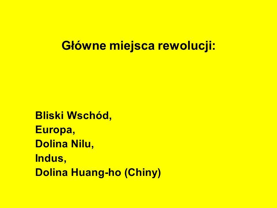 Główne miejsca rewolucji: